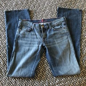 Seven For All Mankind Bootcut Jeans 30 Pink Thread
